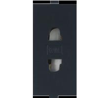 Roma Black,  6A, URO 2 Pin Socket