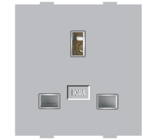 Roma Silver, 13A, Flat Pin English Socket