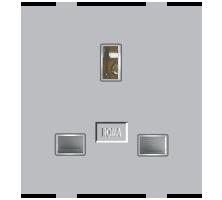 Roma Silver, 13A, Flat Pin English Socket