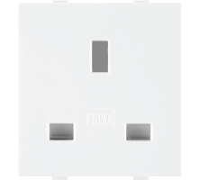 Roma White, 13A, Flat Pin English Socket