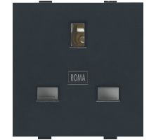 Roma Black, 13A, Flat Pin English Socket
