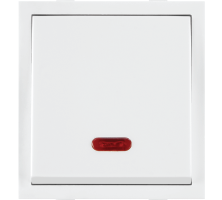 Roma White Dura Switches, 20A, 1 Way Switch With Neon