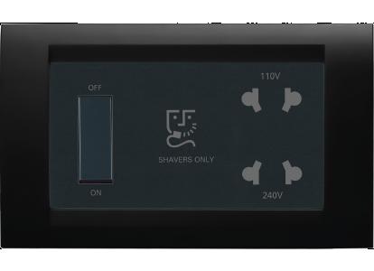Roma Black, Shaver Socket 110/240V - with transformer 4 module