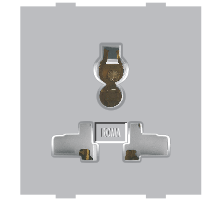 Roma Silver, 13A 10A & 6A, Combi Socket For All Pins