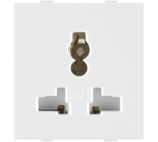 Roma White 13A, 10A & 6A Combi Socket For All Pins