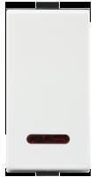 Roma Plus, 10AX, 1 Way Switch with LED indicator, 1M