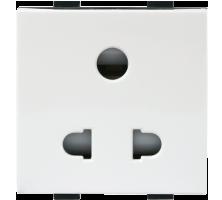 Roma Plus, 10A, 3pin Uni D Socket, 2M