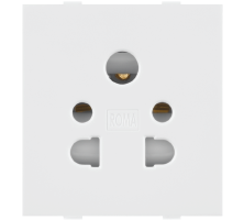 Roma White, 10A, Multi Socket for Cell Phone Pin or 2Pin & 3 Pin