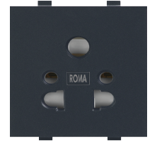 Roma Black, 10A, Multi Socket For Cell Phone Pin Or 2Pin & 3Pin
