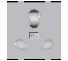 Roma Silver, 25A & 10A, Twin Socket (Heavy Duty)
