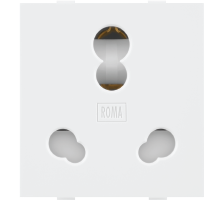 Roma White, 25 & 10A, Twin Socket(Heavy Duty)