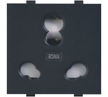 Roma Black, 20 & 10A, Twin Socket