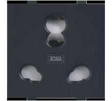 Roma Black, 20 & 10A, Twin Socket