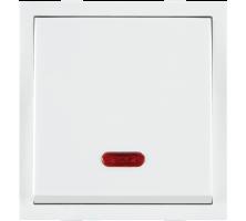 Roma White, 10AX, 1 Way Dura Switch With Neon