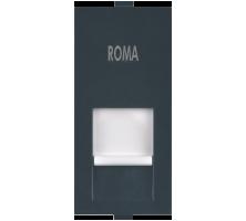Roma Black, RJ 45, Computer Socket Cat5e