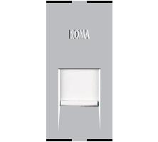 Roma Silver, RJ 45, Computer Socket Cat 6