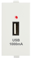 USB Charger, 1M 1000 mA, 5V DC