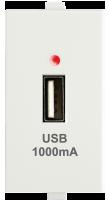 USB Charger, 1M 1000 mA, 5V DC