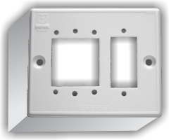 2  Gang Domestic Surface Mounting Box For Switches