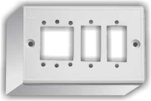 3 Gang Domestic Surface Mounting Box For Switches