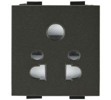 6A Multi Socket For 2 and 3 Pin Plug