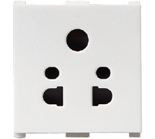10A, 2 Module,2/3 Pin Multi Socket