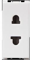 10A, 2 Pin,  1 Module F/R Socket