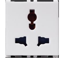 6/10/13A, 2/3  Pin, 2 Module Combi Socket