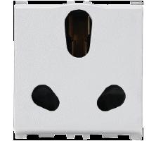 16/6A, 3 Pin, 2 Module Twin Socket