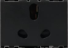 16/6A, 3 Pin, 3 Module Twin Socket