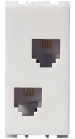 1 Module, RJ11 Double Telephone Socket