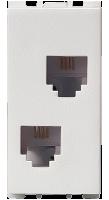 1 Module, RJ11 Double Telephone Socket