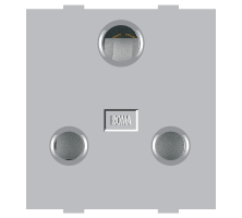 Roma Silver, 16A, 3 Pin Socket (Heavy Duty)