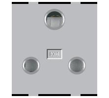 Roma Silver, 16A, 3 Pin Socket (Heavy Duty)