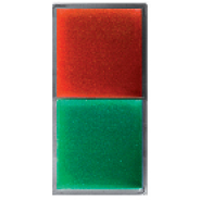 Twin lampholder with red/green diffuser