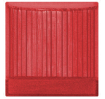 Prominenet lampholder with red diffuser