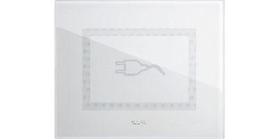 Clear white - plug symbol