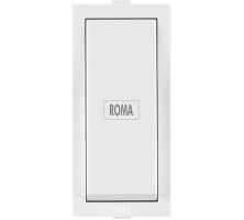 Roma White, 10AX, 1Way  Switch with Fan Mark
