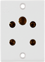 6A, Multisocket for 2 & 3 Pin
