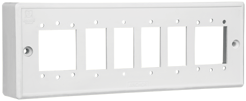 6 Gang Double Domestic Surface Mounting Box For Switches