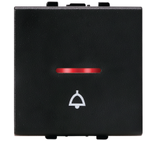 Bell Push, 1Way, 2 Module with LED Indicator