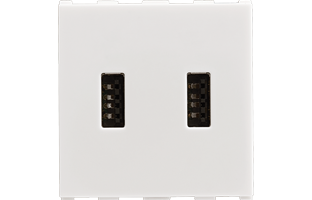 USB Charger, Dual Port, 2.1A, 5V, 2M