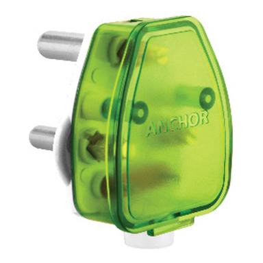 6A 3 Pin top White Base + Green Top