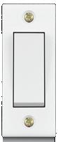 6A, 1 way switch, Urea Back piece(IP 20)