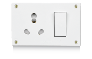 20A & 10A, Uni Switch Socket Combined Units with (4 fixing Holes)