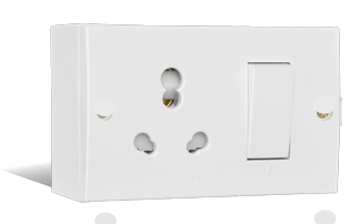 20A & 10A, Uni Switch Socket Combined Units Boxes with (2 fixing Holes)