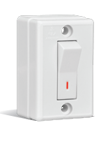 6A, Surface 1 Way Switch
