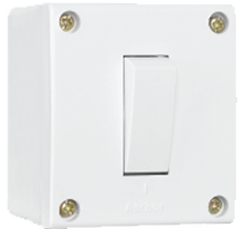 20A, 1 Way Switch with Box, Urea Backpiece