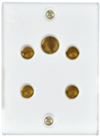 6A, 3-in-1 Socket(2Pin + 3Pin Socket)