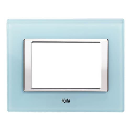 Glass Plate Aqua Blue
